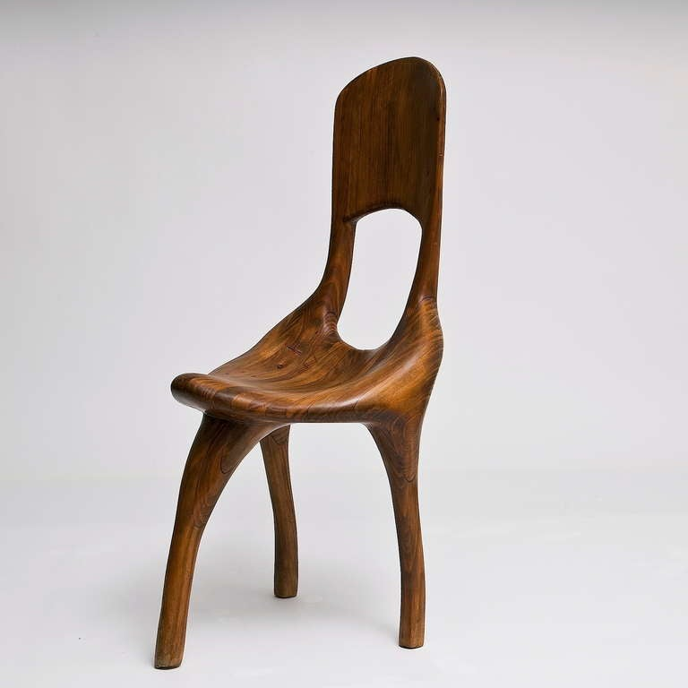 Sculptural Wood Chair In The Manner Of Wendell Castle 2
