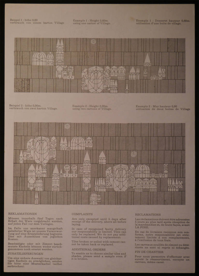 Large Set of Wall Tiles by Roger Capron, Vallauris, 1972 In Excellent Condition For Sale In Saint Ouen, FR