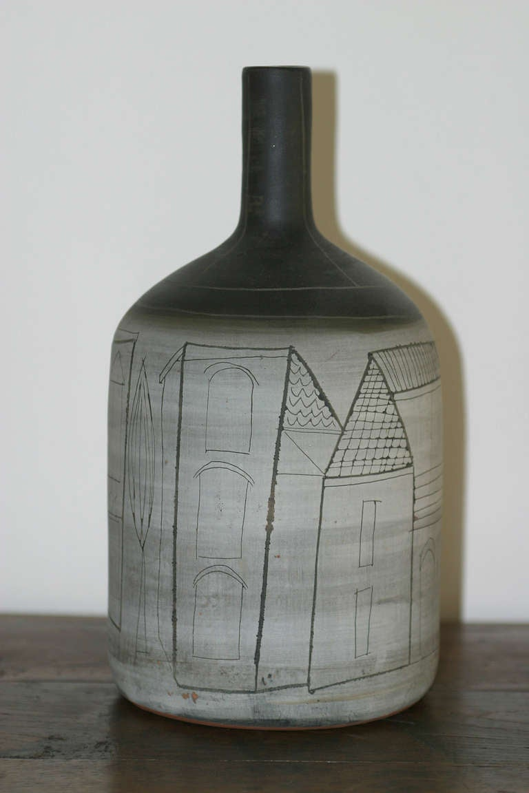 1950s Ceramic Vase By Jacques Innocenti Vallauris France For Sale At 1stdibs