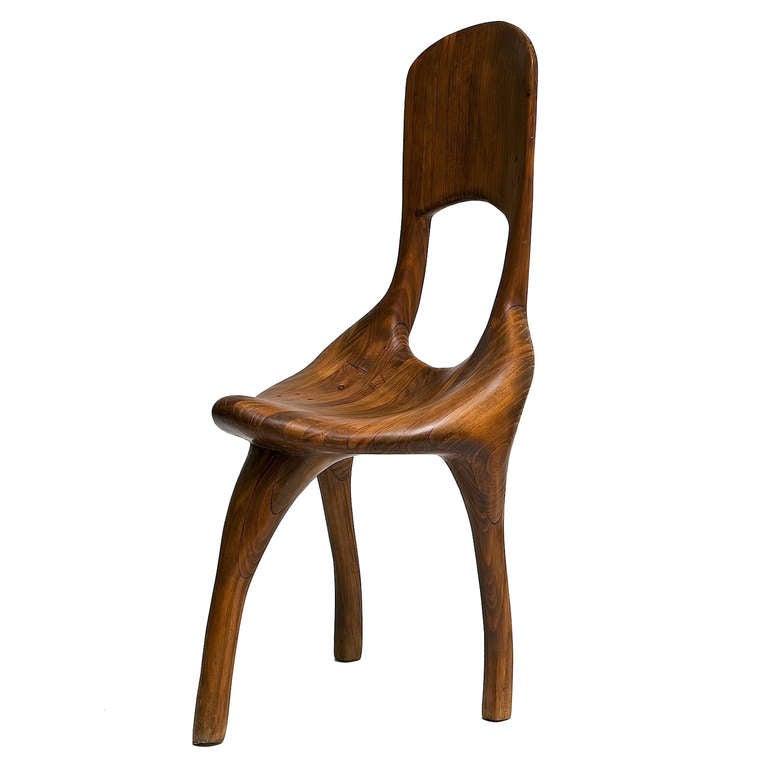 Organic sculptural wood chair a l g