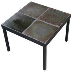 1960s Italian Glazed Lava Low Table