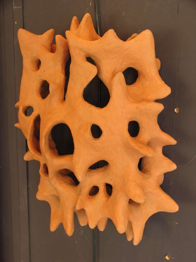 French Ceramic Wall Scupture by Jean Megard, 1967 For Sale