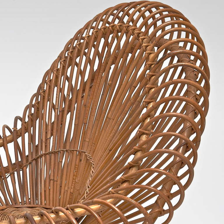 Steel Bamboo and Rattan Lounge Chair in the style of Janine Abraham & Dirk Jan Rol For Sale