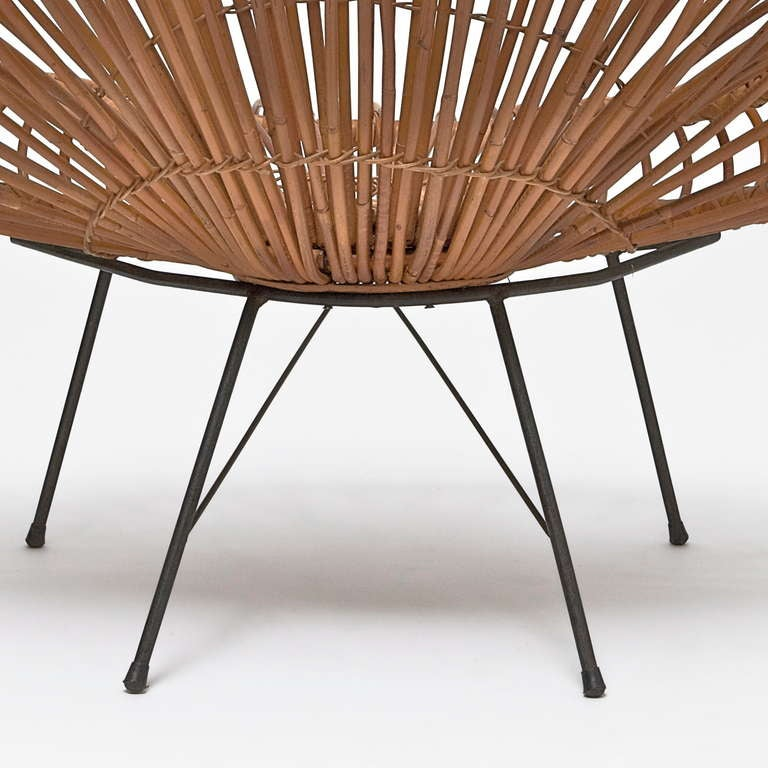 Bamboo and Rattan Lounge Chair in the style of Janine Abraham & Dirk Jan Rol For Sale 1