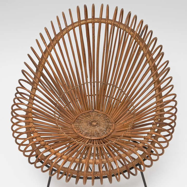 Bamboo and Rattan Lounge Chair in the style of Janine Abraham & Dirk Jan Rol 6