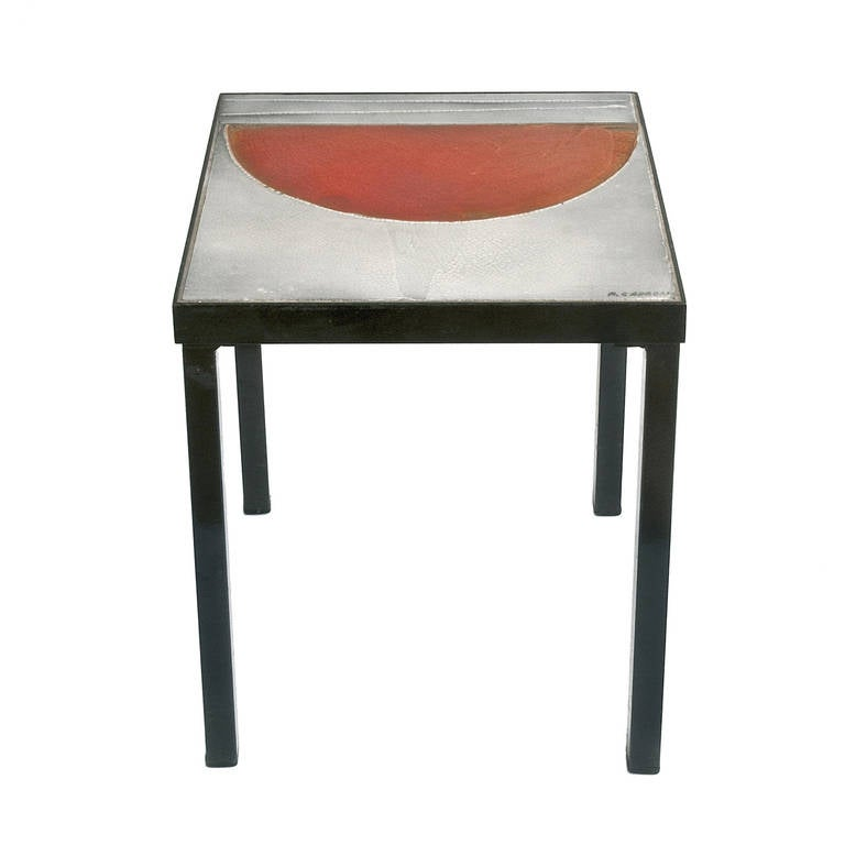 Iconic side table by roger capron at 1stdibs for Iconic tables
