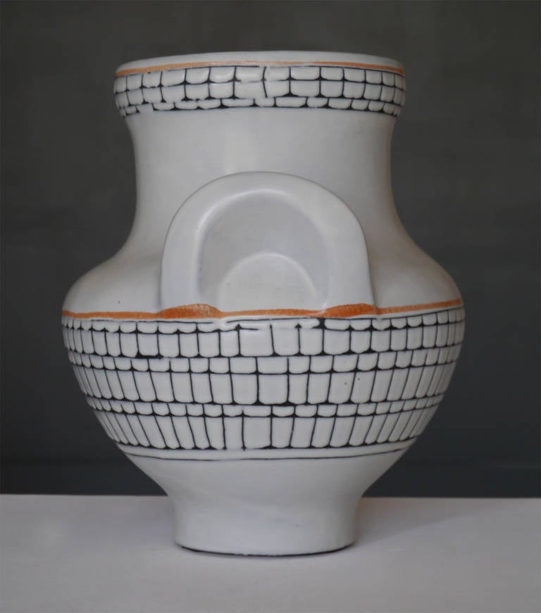 Large Iconic Vase by Roger Capron, Vallauris, France, circa 1950 3