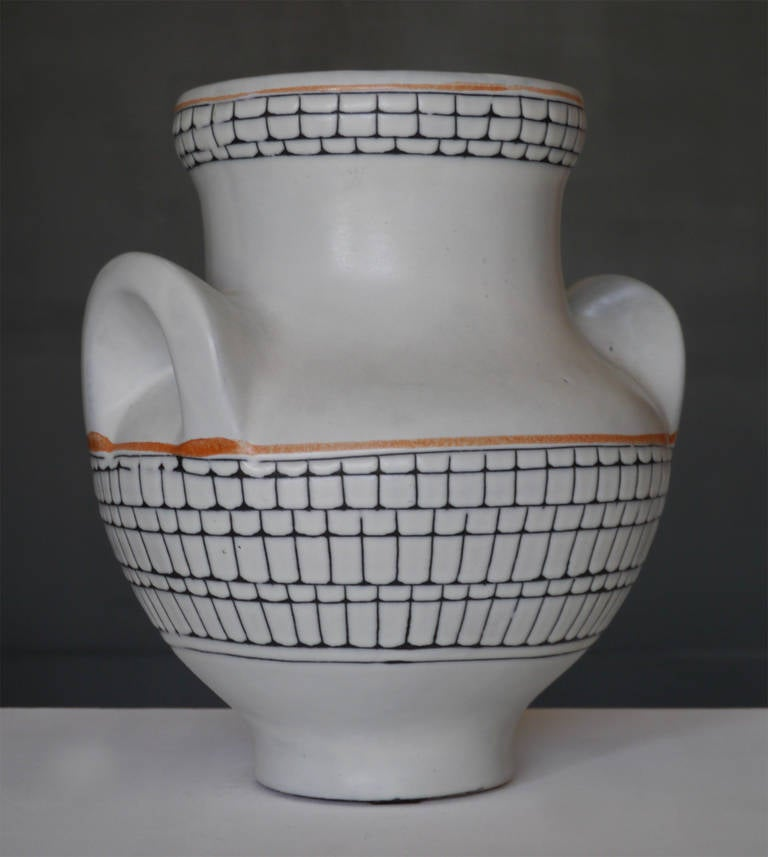 Large Iconic Vase by Roger Capron, Vallauris, France, circa 1950 4