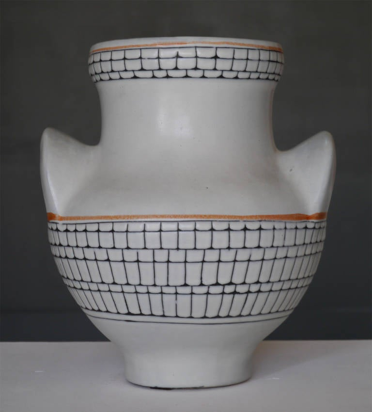 Large Iconic Vase by Roger Capron, Vallauris, France, circa 1950 10