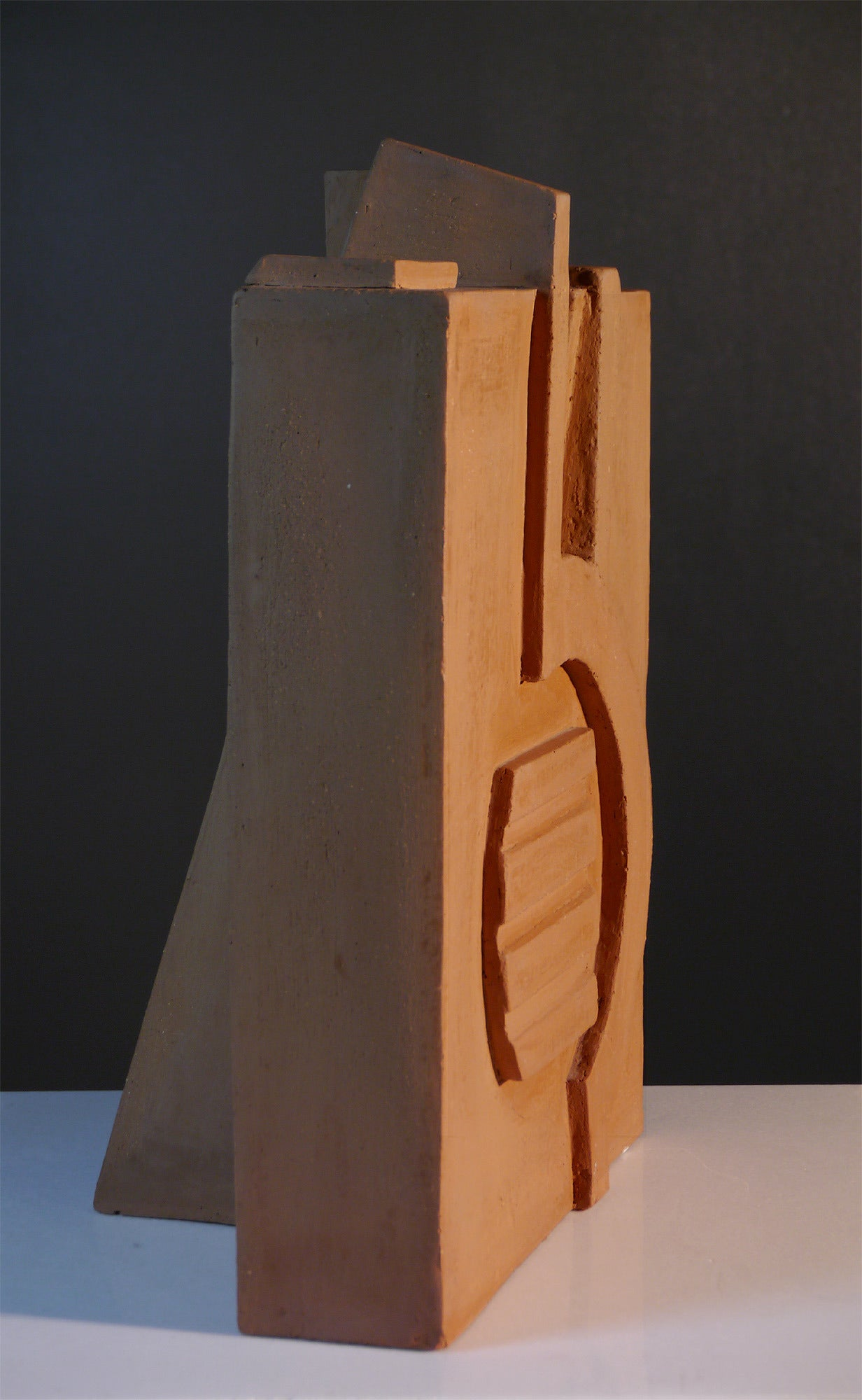 Ocher Earth Sculpture by Jacques Barbier, 1990 In Excellent Condition For Sale In Saint Ouen, FR