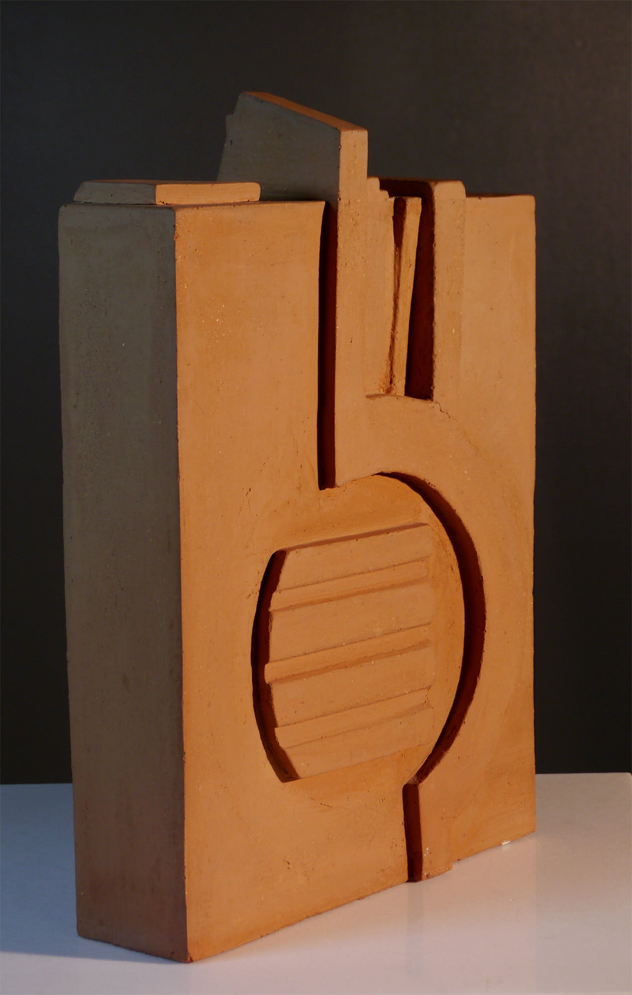 Late 20th Century Ocher Earth Sculpture by Jacques Barbier, 1990 For Sale
