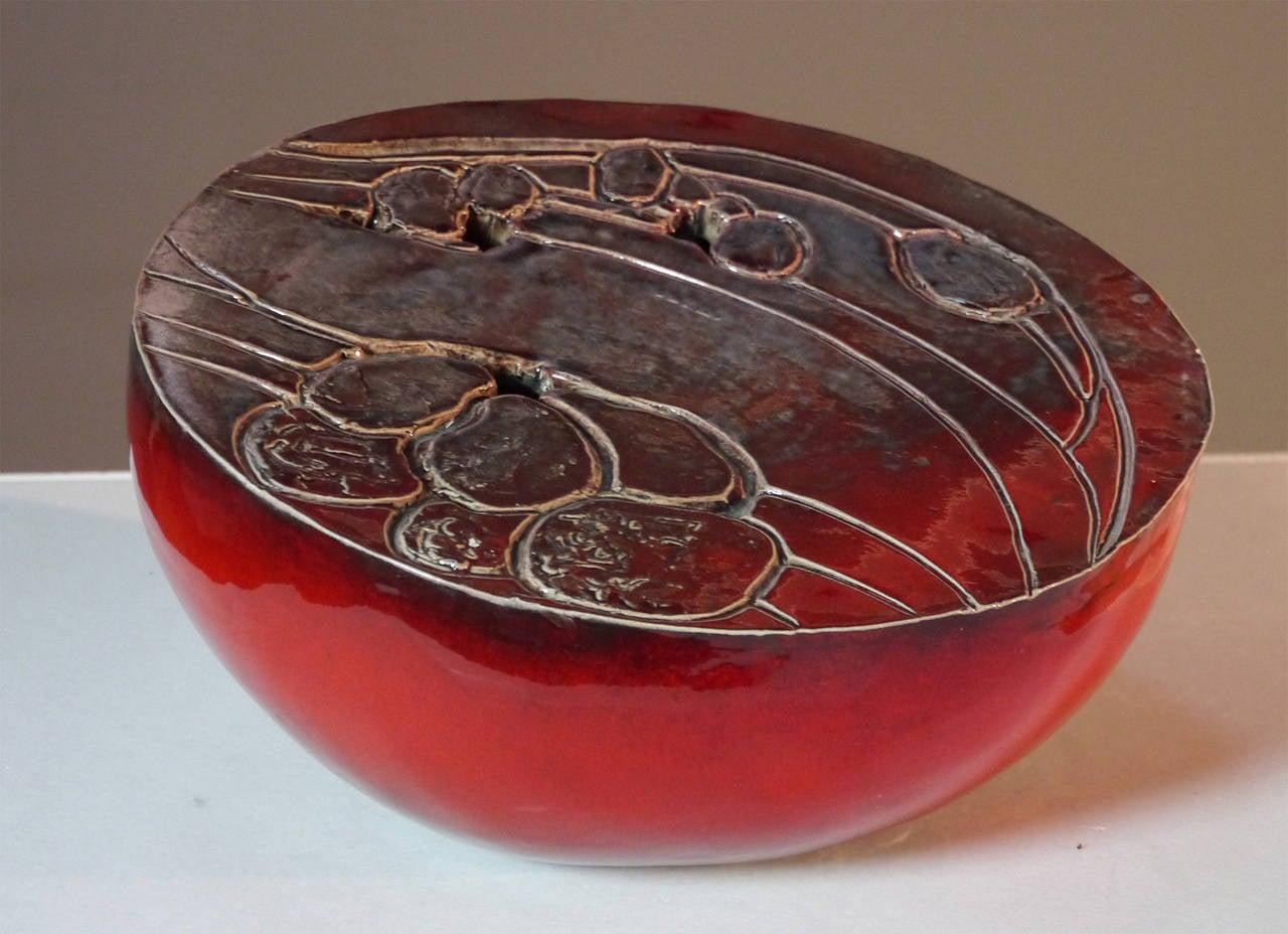 French Ceramic Sculpture by Josette et Jacques Barbier, 1984 For Sale