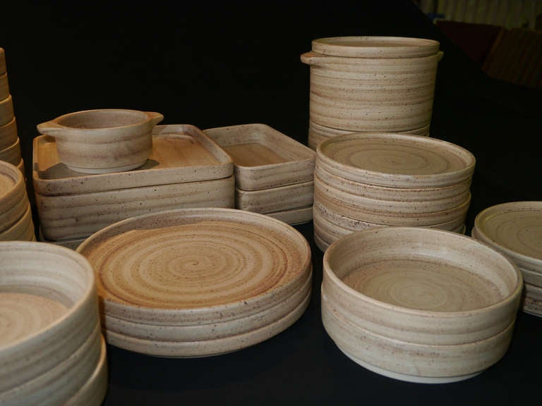 Stackable Faience Dinnerware By Niderviller France Circa