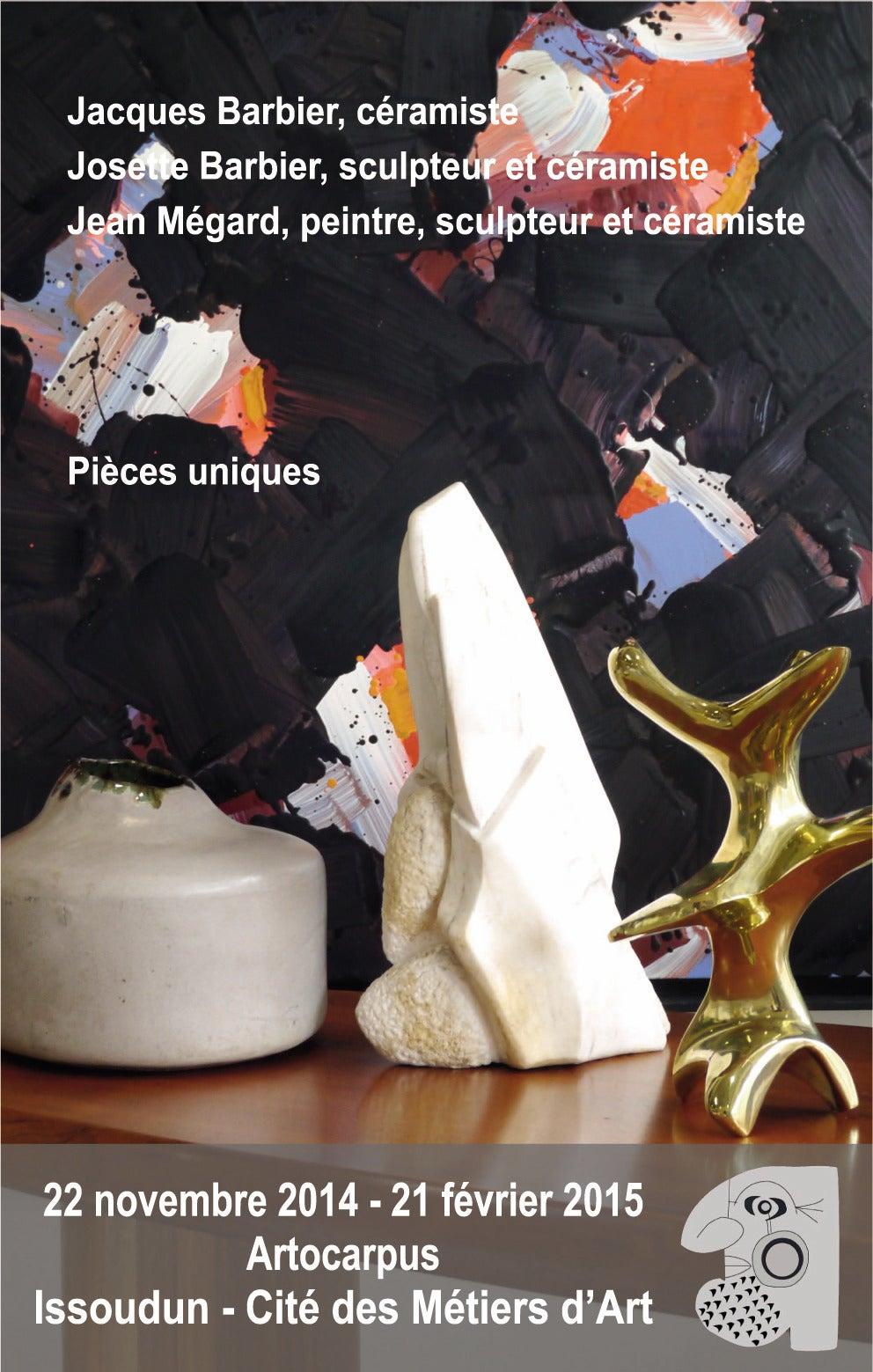 Modern Ceramic Sculpture by Josette et Jacques Barbier, 1984 For Sale
