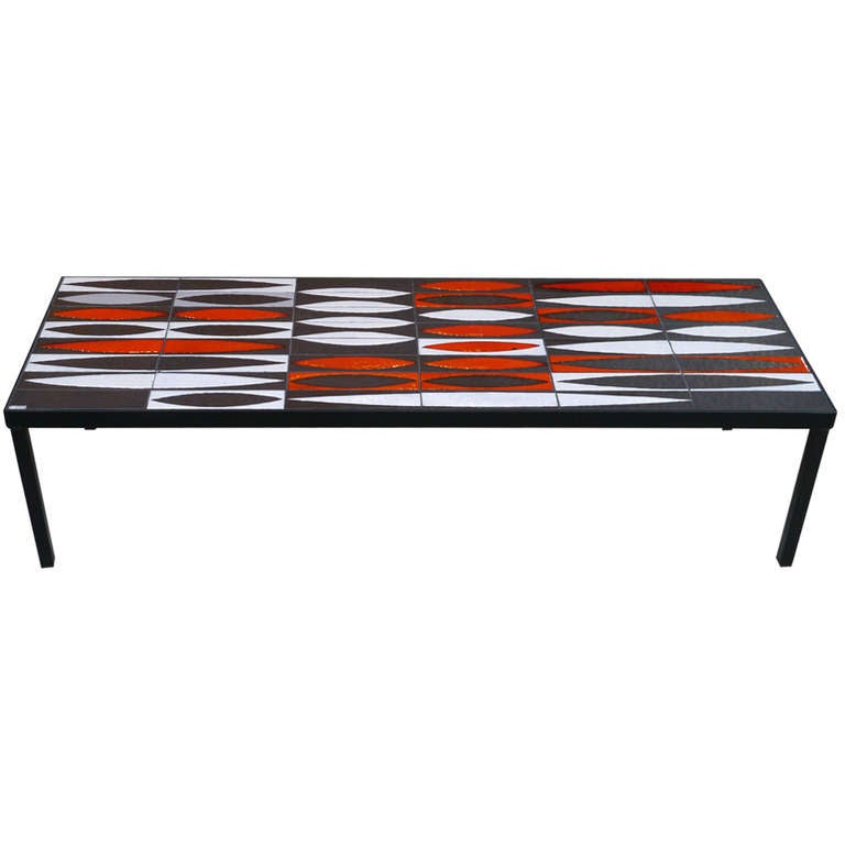 Iconic navettes coffee table by roger capron circa 1950 for Iconic tables