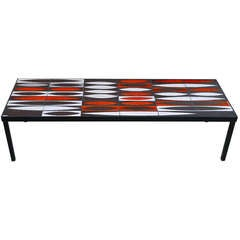 Coffee Table with Roger Capron Tiles, circa 1960