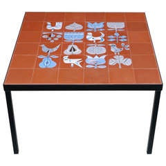 Coffee Table with Roger Capron Tiles, circa 1950