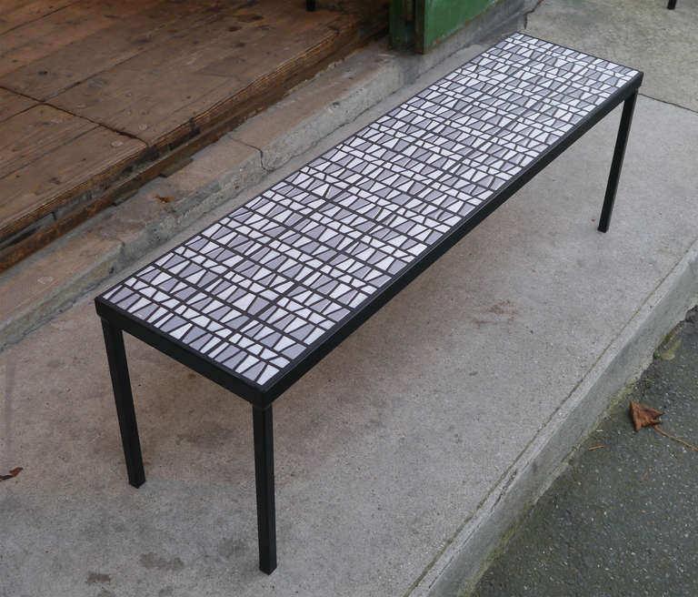 Narrow coffee table by roger capron circa 1950 at 1stdibs for Narrow cocktail table