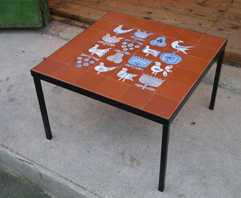 Very rare coffee table by roger capron circa 1950 at 1stdibs for Extremely exotic coffee tables