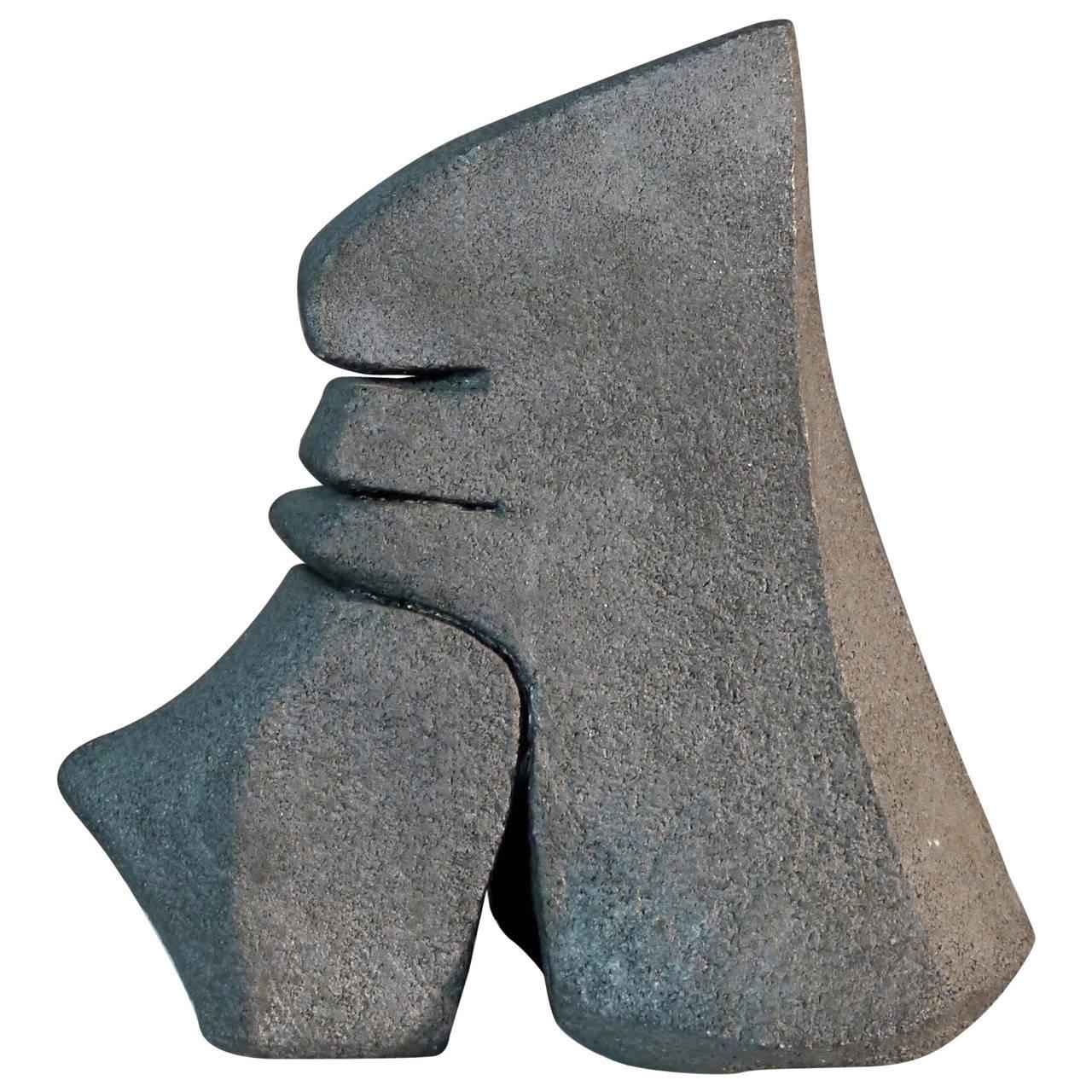 Stoneware Sculpture by Josette Barbier, 1980