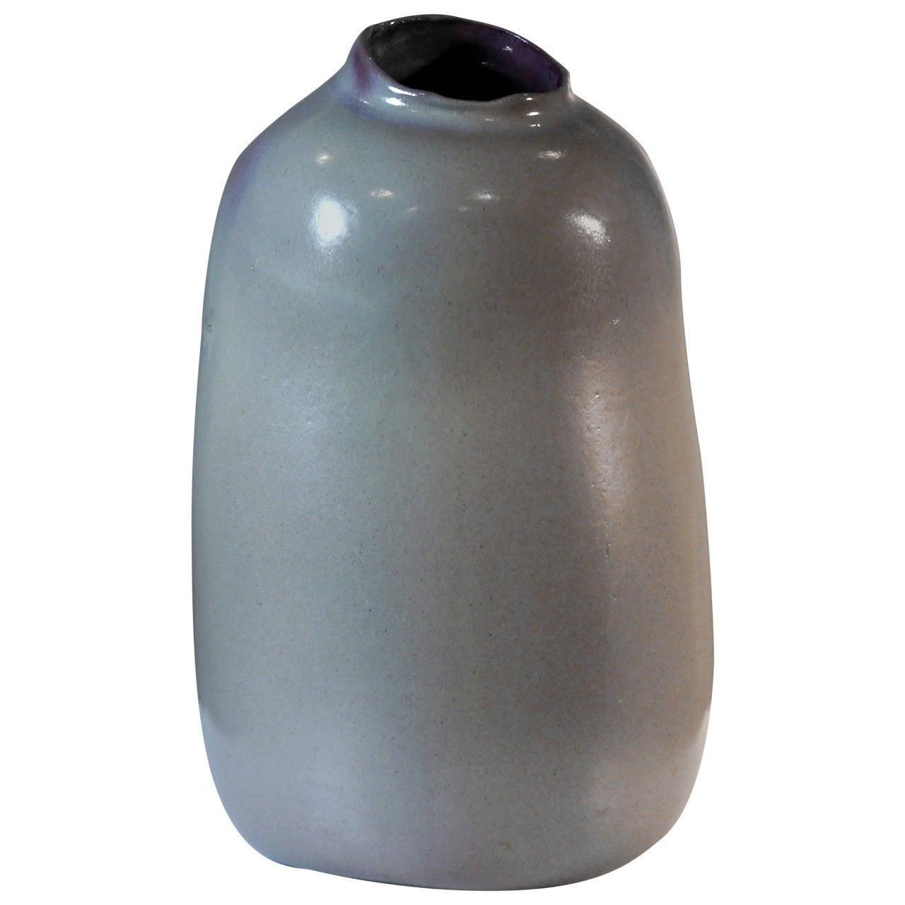 Biomorphic Purple Vase by Jacques Barbier, 1982