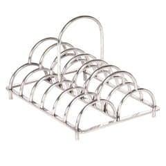 "Christopher Dresser / James Dixon ""Triple Arch"" round handle toast rack c.1881"