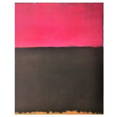 Pair of framed posters after Mark Rothko--Ukraine/Russia 1950s