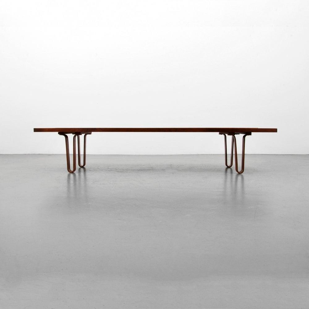 Edward Wormley For Dunbar Long John Coffee Table Bench Usa 1950s Image 2