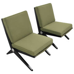 "Pair of Pierre Jeanneret for Knoll Scissor Lounge Chairs, ""Model 92,""USA, 1950s"
