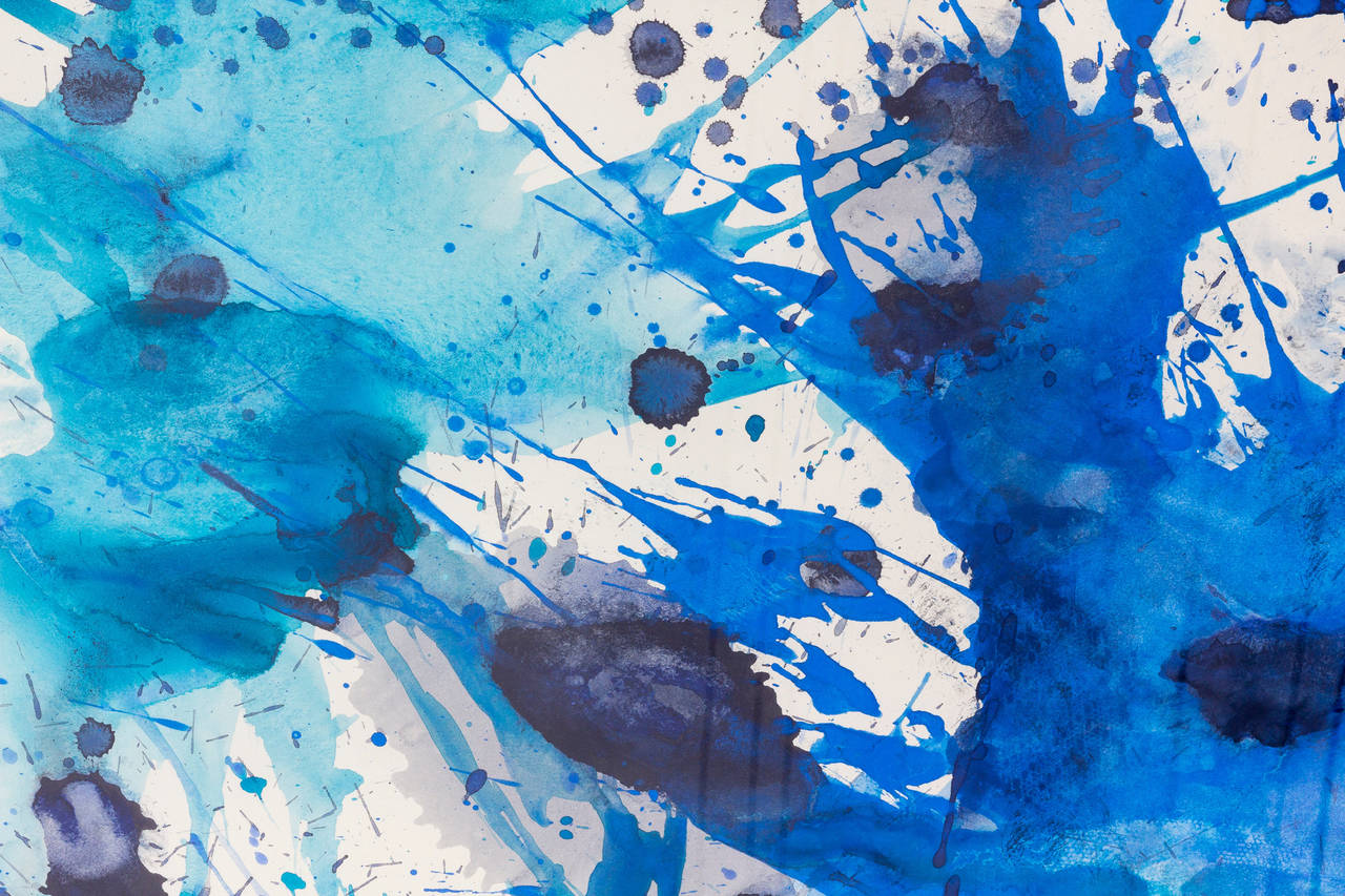 J. Steven Manolis Abstract Gouache and Watercolor on Paper, 2007, USA In Excellent Condition For Sale In Miami, FL