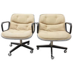 Pair of Charles Pollock for Knoll Executive Chairs, 1970s USA
