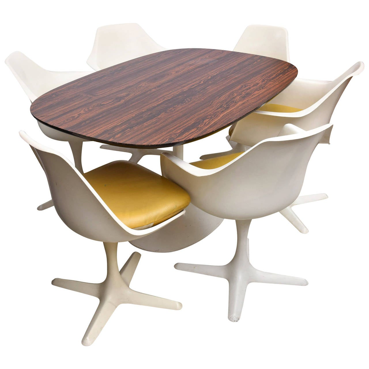 Saarinen style dining table and chairs by burke usa for Dining room tables usa