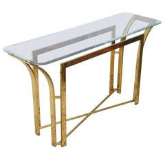 Retro Brass Console Table, 1970s, USA