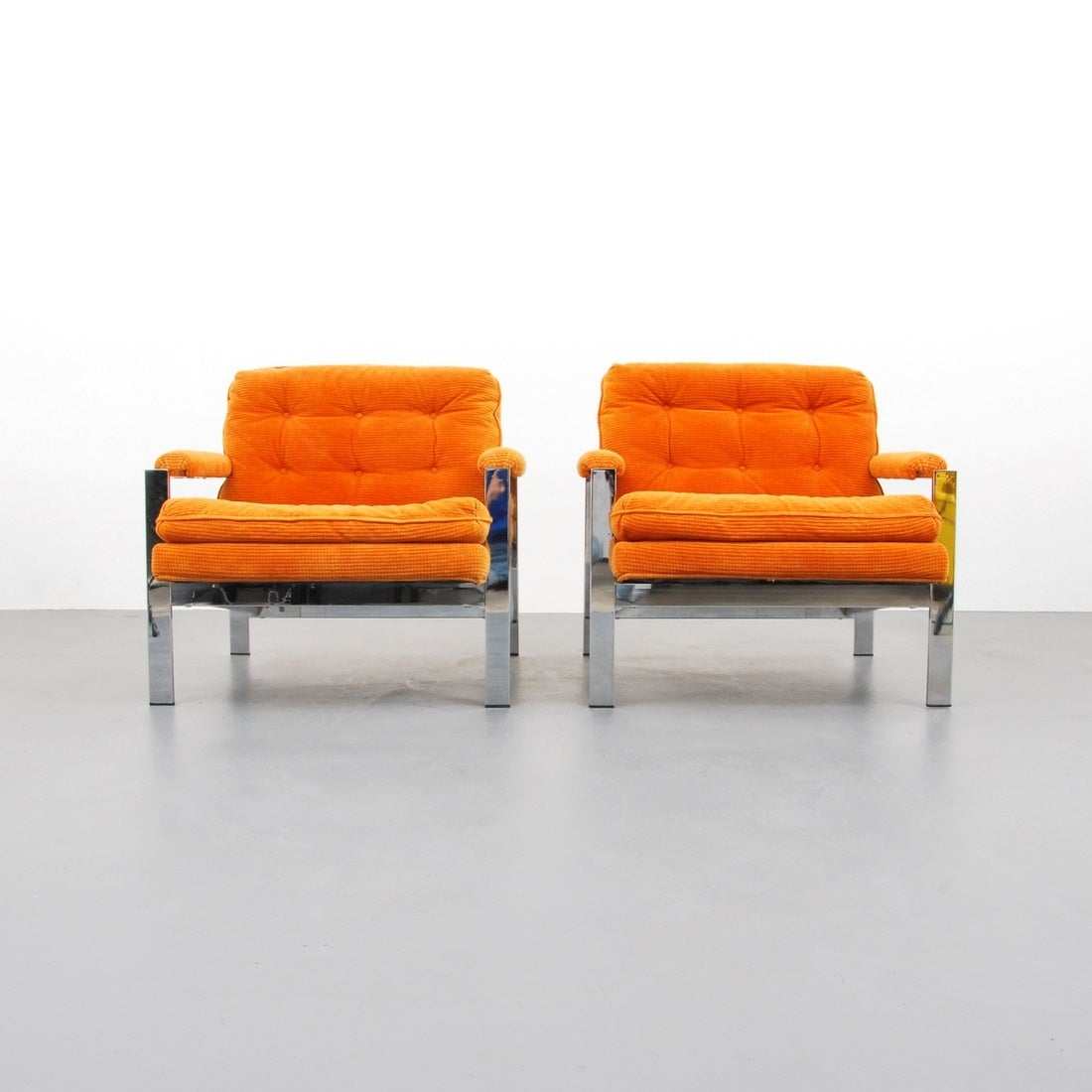 Pair of lounge chairs by Milo Baughman,USA, 1970s.