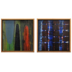 Pair of Original Paul Aho Paintings--USA 1992