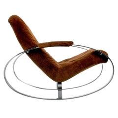Gorgeous Chrome Rocking Chair (Rocker), Guido Faleschini, 1960s, Italy