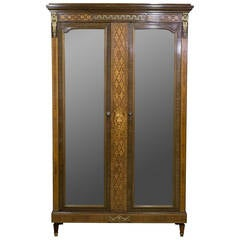 19th Century French Mahogany and Kingwood Armoire