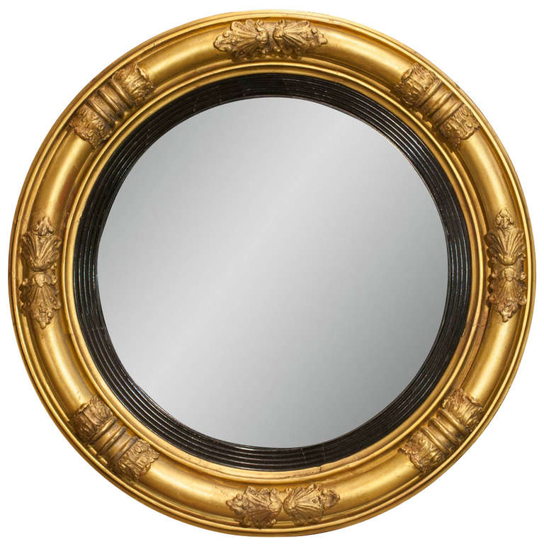 Regency Convex Bullseye Mirror At 1stdibs