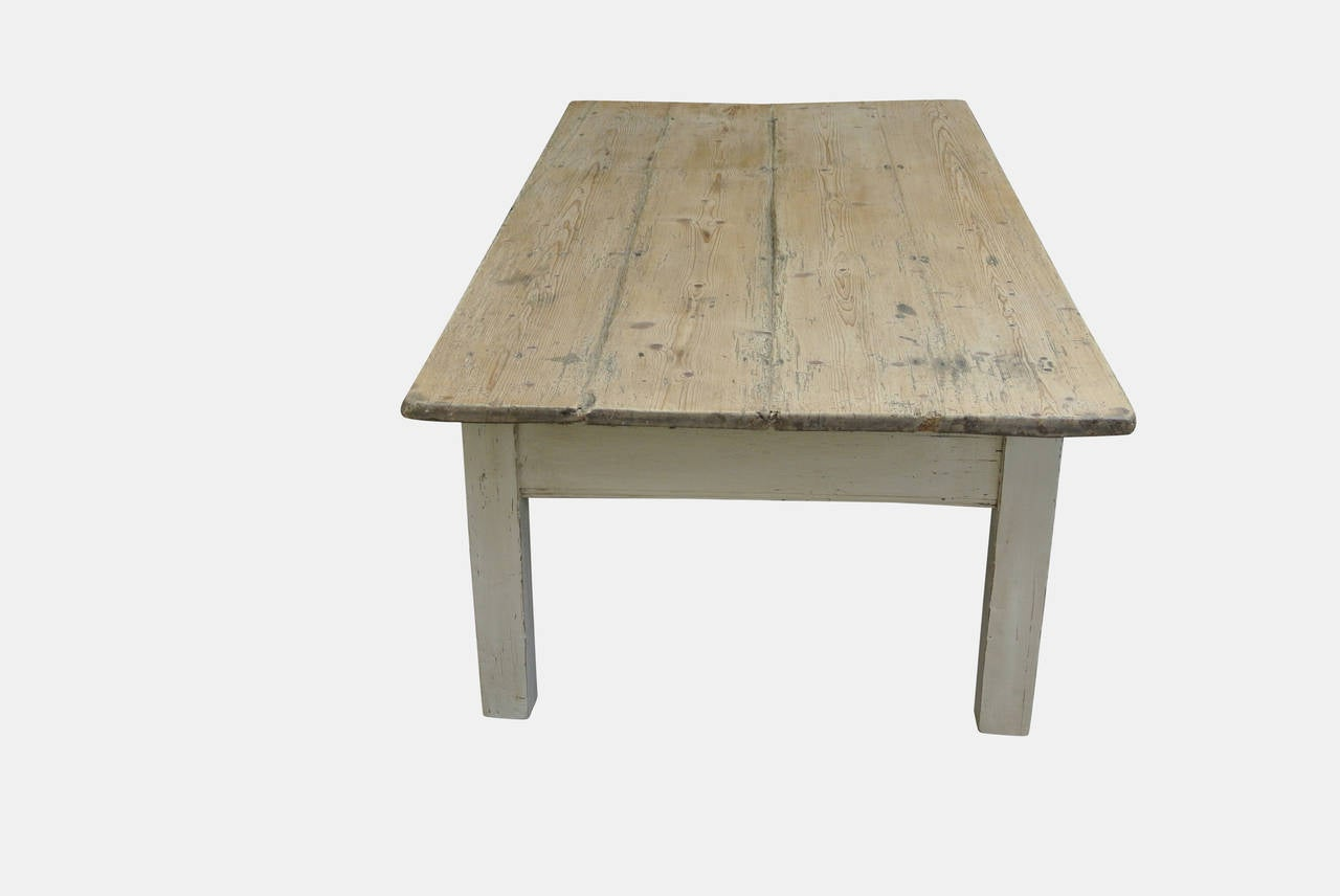 19th Century Painted Farmhouse Coffee Table at 1stdibs