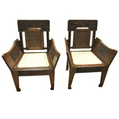 Pair of 19th Century Anglo-Indian Chairs