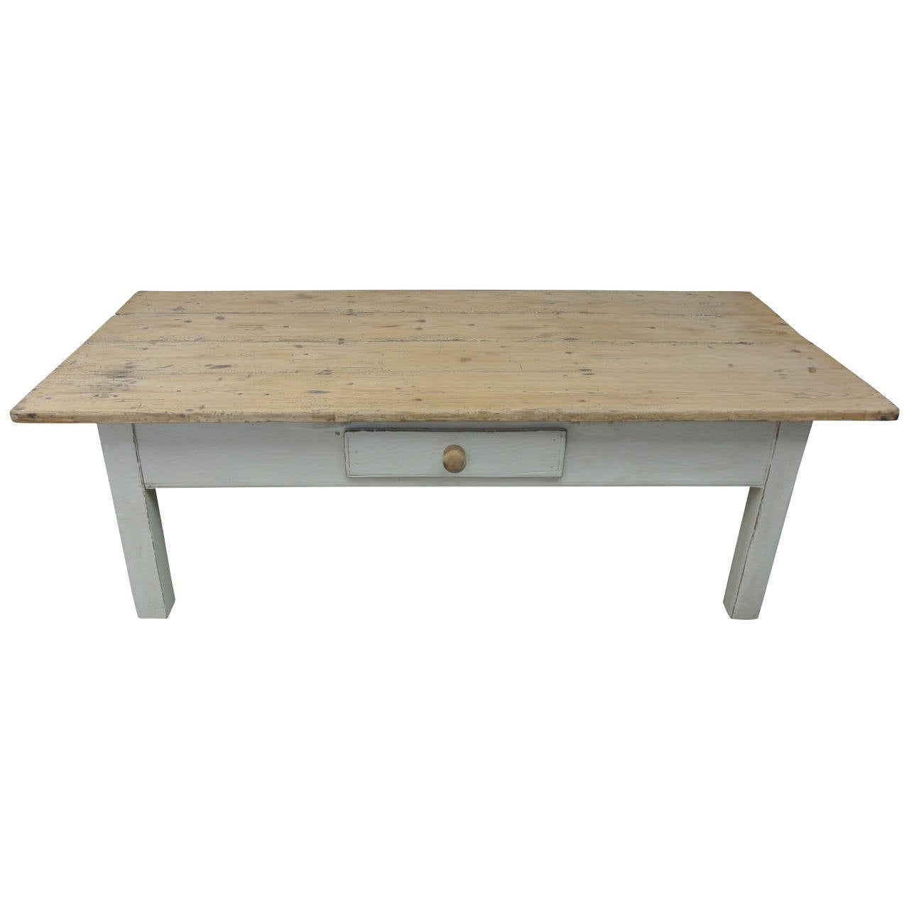 19th Century Painted Farmhouse Coffee Table At 1stdibs: painted coffee table