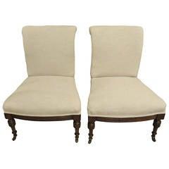 Pair of 19th Century Mahogany Bedroom Chairs