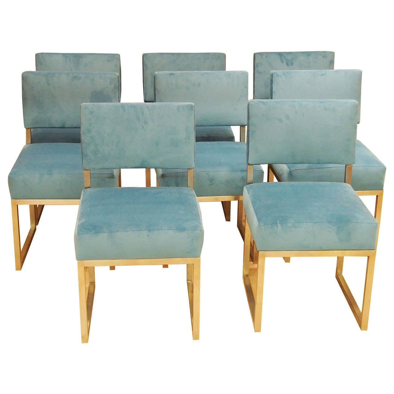 1965 1970 set of eight dining room chairs stainless steel for 1970 dining room set