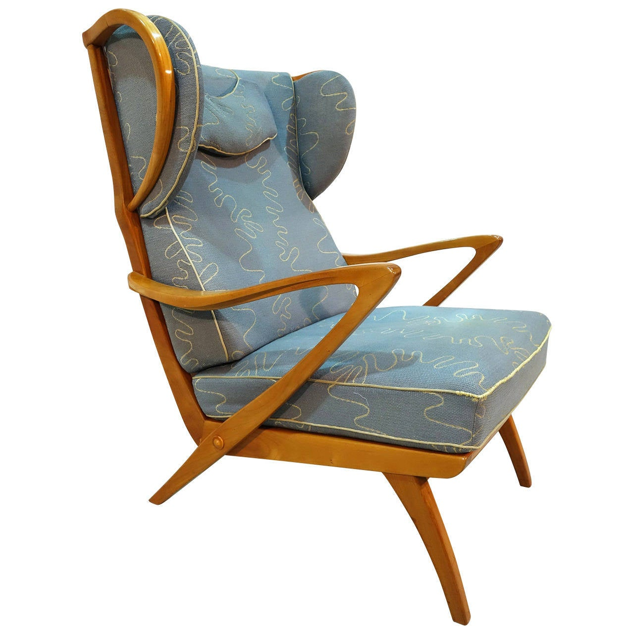mid century german 1950s wing chair at 1stdibs
