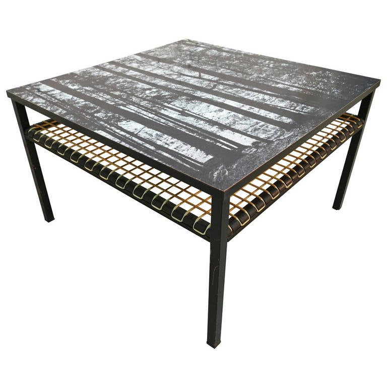 Coffee table with print top formica at 1stdibs Formica coffee table