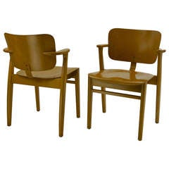 Pair of Early Domus Armchairs by Ilmari Tapiovaara