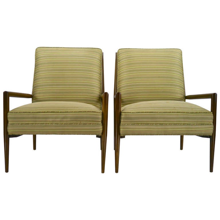 Pair Of Paul Mccobb Planner Group Lounge Chairs