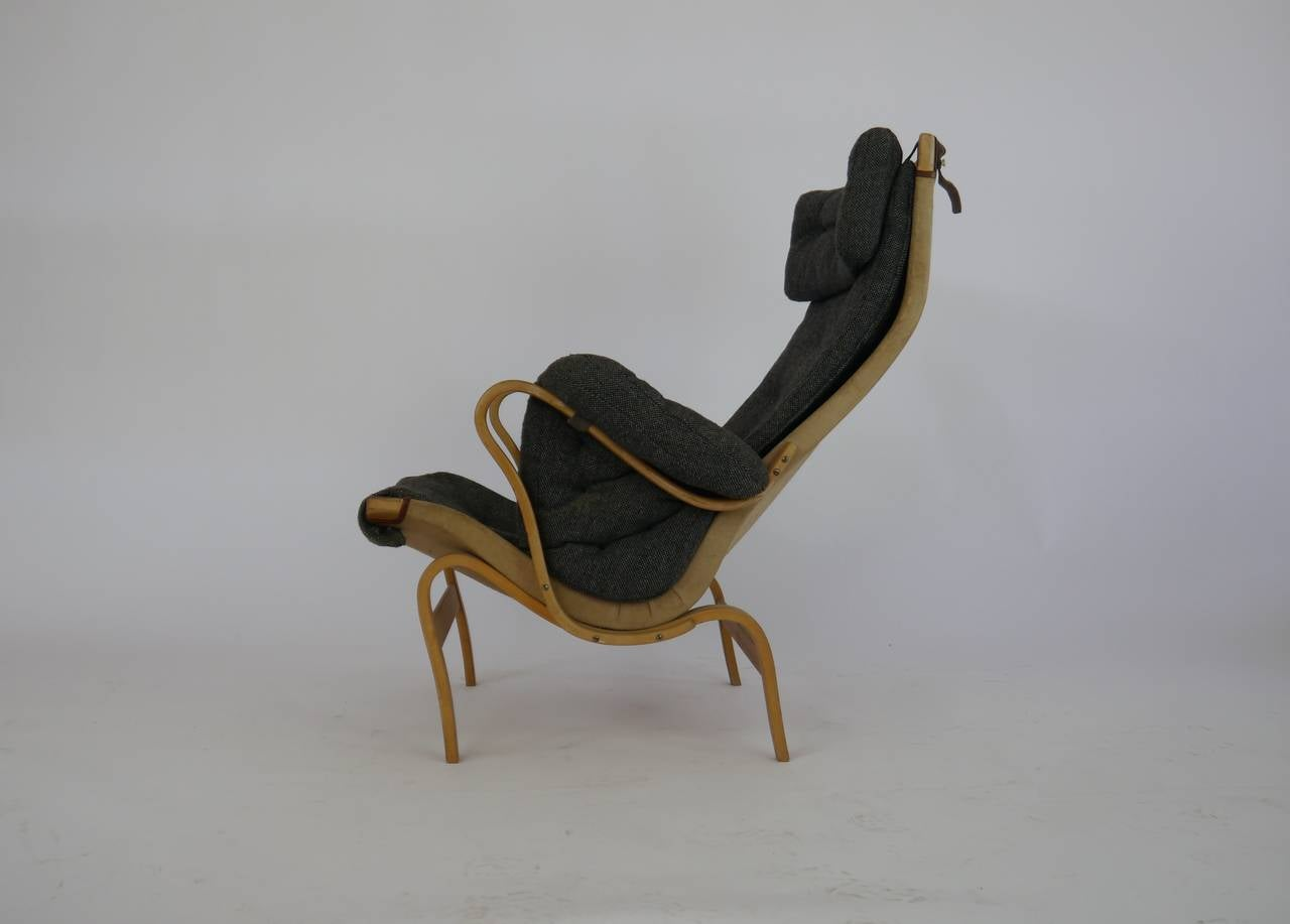 Swedish Pernilla Lounge Chair by Bruno Mathsson for Dux For Sale