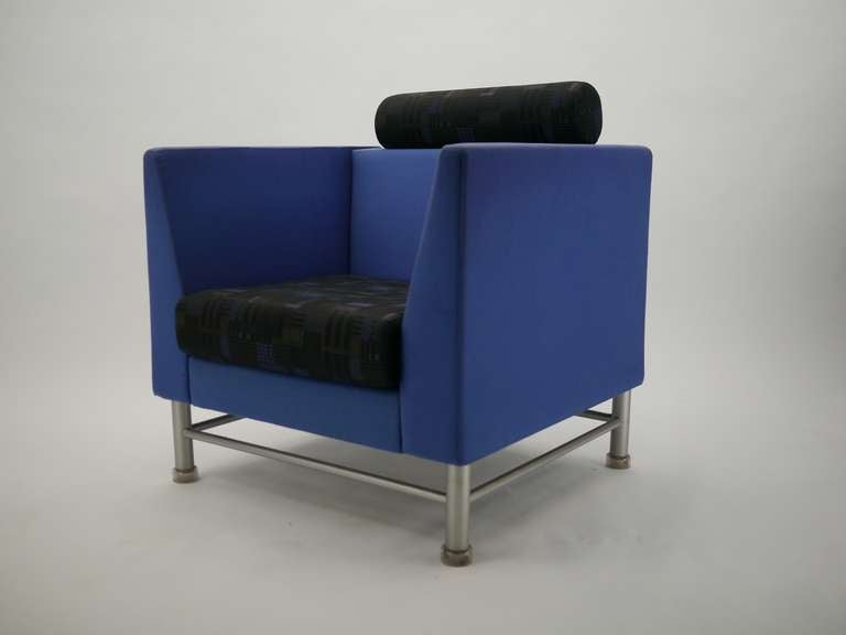 Pair Ettore Sottsass Eastside Lounge Chairs For Knoll 8