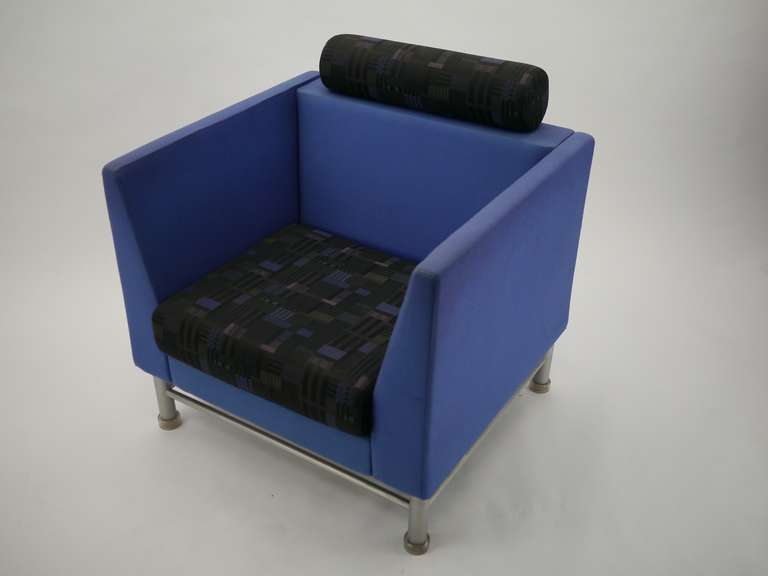 Pair Ettore Sottsass Eastside Lounge Chairs For Knoll 4